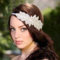 Wholesale bridal tiara hair crown Elegant Bridal Crown Tiara Silkl Hair Accessories Headpieces Frontlet Hair Band v02004