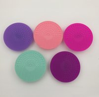 cosmetic pads - Silicone Face Cosmetic Makeup Brush Cleansing Pad Cleaning Cleaner Mat Tool Colors