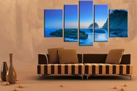 beach scene prints - Original US high tech HD Print Landscape Oil Painting Wall Decor Art on Canvas No frame Blue sunset beach scene PC