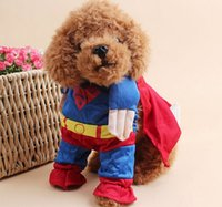 batman pet costume - Superdog DOG Superman Spider man Batman dog clothes cat clothing four legs Change to pack puppy pet teddy ems mixs Christmas gift