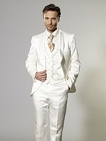 Cheap Wool Blend groom tuxedos Best Reference Images One Button bridegroom suit