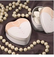 Cheap Bride groom Mint tin wedding favor box 500PCS LOT free shipping dressed to the nines wedding candy box 1203#03