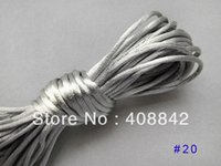 Cheap FREE SHIPPING 2mm 20M 10M*2pc Silver Gray Chinese Knot Cord Satin Braided Bead String N20 DIY Rope Jewelry Making Beading Thread