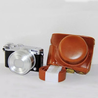 Wholesale 2015 New Brown Camera Leather case bag cover pouch for Nikon J5 J5 mm lens With Strap Brown
