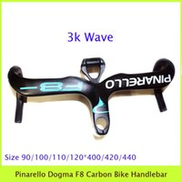 Wholesale Dogma F Eight Carbon Bike Handlebar Integrated With Stem Computer Holder Table Frame K Wave Blue White Written Bicycle Drop Handle Bar