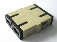 Wholesale FTTH fiber adapter adaptor coupler SC SC Flangeless with zironida sleeve duplex