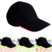 Wholesale Hot Adjustable LED Lighted Glow Party Baseball Hip Hop Sports Athletic Hat Fabric Cap Black New Arrival Promotion BHU2