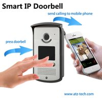 Wholesale 2015 new product vide door phone with wifi connecting to internet smartphone APP to unlock door security camera view pc DHL