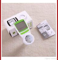 Wholesale Green Color V A AC EU Plug energy meter power KWH Consumption Monitor Analyzer digital watt meters