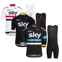 bicycle wear - 2016 Team Sky Cycling Jerseys Set Tour De France Champion Britian Road Racing Champion Bicycle Wear Short Sleeve Cycling Clothes With Bib