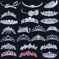 rhinestone hair comb - 2015 Beautiful Clear Crystals Rhinestone Wedding Party Prom Princess Bridal Crown Headpiece Hair Accessories Tiaras comb style