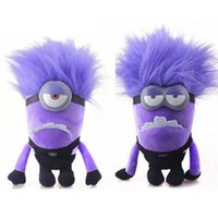 bad birthday gifts - 2015 New Birthday Gifts Plush Toy for Despicable Me Evil Minion Bad Minion Purple TWO EYE ONE EYE