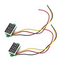 Wholesale 1Pc Three wire DC Digital DC V Reverse Polarity Protection Car Voltmeter Brand New