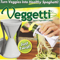Wholesale 2015 New Veggetti Spiral Vegetable Slicer Veggies Healthy Vegetable Cooking Tools Spaghetti Cutter Spiralizer LJJD1379