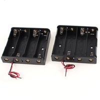 Wholesale FS Hot Black Plastic Battery Holder Case w Wire for x V order lt no track