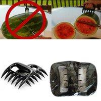 Wholesale 1pcs BBQ Bear Meat Claws Shredding Lift Tongs Pull Handler Handling Fork Toss New