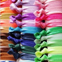 Wholesale Elastic FOE Headbands for children and women DIY Hair Accessory Satin Stretchy baby Hairbands Headwear