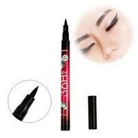 Cheap 12Pcs lot Liquid Eye Liner Pencil Pen Beauty Cosmetic Eye Liner Make Up Black Liquid Eyeliner Waterproof 12pcs in 1