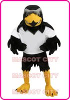 Custom Made silver eagle - MASCOT CITY Deluxe Plush Falcon Mascot Costume Adult Size Eagle Mascotte Mascota Carnival Party Cosply Costume Fancy Dress Suit Fit SW1137