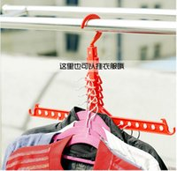 Wholesale Practical Folding Wardrobes Closet Organizer Plastic Clothes Hook Rack Folding Magic Clothes Hanger Space Saving IC677937