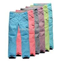 Wholesale New Design Ski Pants Colors Winter Outdoor Skiing Pants For Women Windproof Waterproof Trousers Pants Women Full Zipper