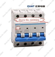 Wholesale CHINT MCB NB1 C50A P low voltage mini miniature circuit breaker Modular DIN Rail motor protection CE