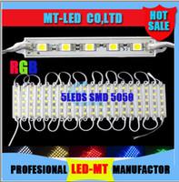 2015 el más nuevo alto brillo 6 colores eligen o RGB llevó los módulos del pixel 5 luces 5050 SMD llevó los módulos impermeabilizan DC 12V para las letras del canal