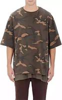 Cheap kpop oversized t shirt men fashion shirts men's clothes kanye west camo camouflage urban yeezy season 1 yeezus half sleeve Tee