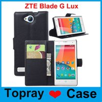 Cheap For ZTE Blade G Lux cases Colorful Flip Stand Wallet Style PU Leather Case with card holder slots