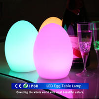 bar bar table - Rechargeable Colorful LED Egg Bar Table Lamp Break resistant Rechargeable LED Glowing Lighted Egg Night Light for Christmas Club Bars Light