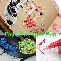 puffy paint - Magic DIY Popcorn Paint Pen Puffy Embellish Decorate Bubble Graffiti Stationery Hot