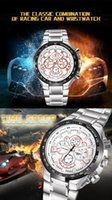 bicycle brands names - 2015 classic fashion decoration dials full steel mens watches brand name high quality quartz male clock racing bicycle men s wrist watch