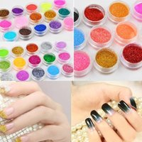 Wholesale New Hot polish Colors Shine Nail Glitter Powder Nail Art Fine Dust Set