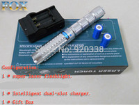 Wholesale Powerful military force nm nm Green blue Laser Pointer mw burn matches pop balloon light SOS burning match camping signal lamp Hunt