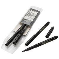 b artists - Faber Castell Pitt Artist Pen Black Liner Brush S F M B set Needle Pen For Sketch Graphics Design