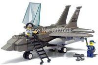 air force toys - 20sets B7200 plastic building block sets Air Force F15 Fighter kids educational bricks blocks toys gift