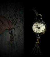 Cheap Retro Vine Bronze Quartz Ball Glass Pocket Watch Necklace Chain Steampunk 5pcs lot free ship