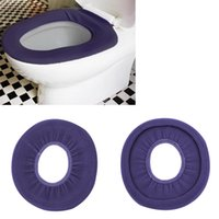 acrylic toilet seats - 2015 new Warmer Toilet Washable Cloth Seat Cover Pads Use In O shaped Flush Toilet For Bathroom