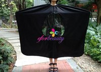 Wholesale Visible Salon Hair Cutting Cape Waterproof Haircutting Gown Hair Cut Tool Cape Cloth Apron Mixed Color