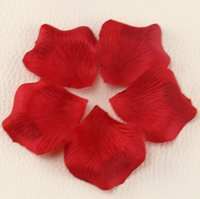 red wedding - MIC Dark Red Silk Rose Petals Wedding Flowers Favors Decoration Jewelry DIY