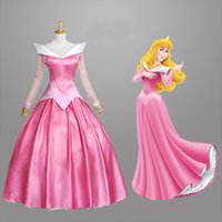 2015 Nouvelle Arrivée Adulte Sleeping Beauty Robe Princesse Aurora Costume Cosplay bleu / robe rose