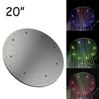 Wholesale LED shower big lights water glow powered no need battery bathroom ceiling led shower