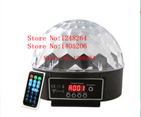 Wholesale AC V V DMX Control Pannel Remote control W LED Stage Light RGB kinds of color Crystal Magic Ball Effect lamp Disco DJ Paty