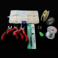 beads jewelry making kits - SET JEWELRY MAKING KIT BEADS CAP FINDINGS PLIERS Fit Jewelry Accessories DIY ZH BDH010