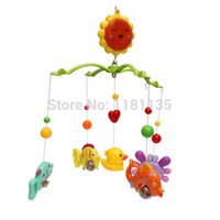 Wholesale Baby Music Crib Bell Toy Cartoon Rotate Lovely Wind up Twist Bed Soft Music Hanging Bell Rotate Baby Toys Gift order lt no tra