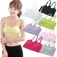 bamboo clothings - Hot Women s Casual Half Length Tube Tank Top Sport Modal Bra Y Shape Padless Strap Crop Tops Cropped Clothings