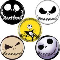 Wholesale cheap skull ear gauges plugs made of black acrylic piercing body jewelry flesh tunnels
