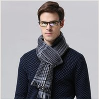 Wholesale 2015 Christmas Men Wool Scarf Warm Formal Business Both Man And Woman Winter Scarves Popular Strip