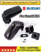 Wholesale In Russia Free and fast shipping Black plug in car armrest for Suzuki SX4 with box