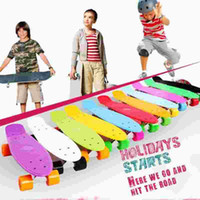 Wholesale 1x Colorful skateboard for adult and teenager Four wheel Surf Street Slide Fish Board inch Kg Max Loading